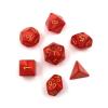 Hot Games Dobókocka szett - márvány lávapiros (7 darabos) - /EV/