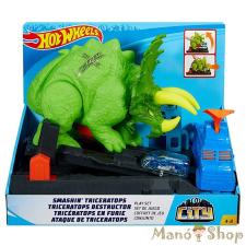 Hot Wheels City Triceratops zúzó pályaszett autópálya és játékautó