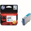 HP 655 cyan CZ110AE festékpatron - eredeti Deskjet Ink Advantage 3520, 3525, 4610, 4615, 4620, 4625, 55