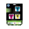 HP CB333EE Tintapatron multipack Photosmart 3210 nyomtatóhoz, HP 363 c+m+y, 400+370+500 oldal