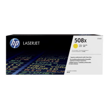 HP CF362X Lézertoner Color LaserJet Enterprise M577, M533 nyomtatókhoz, HP 508X, sárga, 9,5k nyomtatópatron & toner