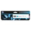 HP D8J07A Tintapatron OfficeJet Enterprise Color X585, X555 nyomtatókhoz, HP 980, cián, 6,6k