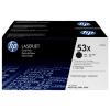 HP Q7553XD Lézertoner LaserJet P2014, P2015, M2727MFP nyomtatókhoz, HP fekete, 2*7k