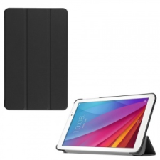 Huawei Mediapad T1 10.0, mappa tok, Trifold, fekete tablet tok