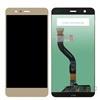 Huawei P10 Lite kompatibilis LCD modul kerettel, OEM jellegű, arany