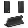 Huawei P10 Lite, Oldalra nyíló tok, stand, Prestige Book, fekete