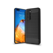 Huawei P40 Pro szilikon hátlap - Carbon - fekete tok és táska
