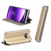 Huawei P Smart / Enjoy 7S, Oldalra nyíló tok, stand, Forcell Elegance, arany