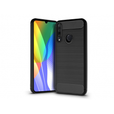 Huawei Y6p szilikon hátlap - Carbon - fekete tok és táska