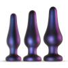Hueman Hueman Comets - szilikon anál dildó szett (3 részes) - lila