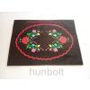 Hunbolt Kalocsai terítős fekete lakk dísztasak- fekvő (ajándék tasak) 38x28x9 cm
