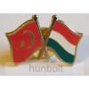 Hunbolt Kitűző, páros zászló Török-Magyar jelvény 26x15 mm