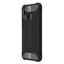 Hurtel Hibrid Armor telefontok hátlap tok Ütésálló Robusztus Cover Samsung Galaxy A30 fekete tok és táska