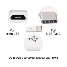 Hurtel Micro USB-USB adapter C típusú Data Sync Charge fehér mobiltelefon kellék
