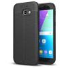 Hurtel Samsung Galaxy A5 (2017) A520 Litchi Pattern Flexible hátlap, tok, fekete