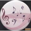 Hűtőmágnes, violinkulcs és hangjegyek