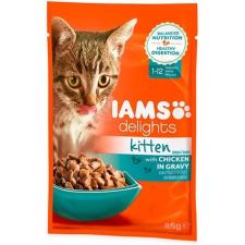 IAMS Cat Delights Kitten – Csirke falatkák ízletes szószban (24 x 85 g) 2.04kg macskaeledel