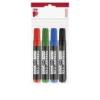 """ICO Alkoholos marker készlet, 1-4 mm, vágott, ICO \""""Permanent 12 XXL\"""", 4 különböző szín [4 db]"""