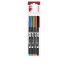 ICO Alkoholos marker készlet, OHP, 1-4 mm, C, ICO, 4 különböző szín [4 db]