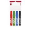 """ICO Flipchart marker készlet, 1-4 mm, vágott, ICO \""""Artip 12\"""", 4 különböző szín [4 db]"""