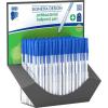 ICO Golyóstoll display, 0,7 mm, kupakos, antibakteriális, ICO  Signetta , kék