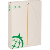"ICO Gumis mappa, karton, A5, 45 mm,  ""Green"", törtfehér"