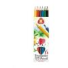 """ICO Színes ceruza készlet, háromszögletű, vastag, ICO \""""Süni\"""", 6 különböző szín [6 db]"""