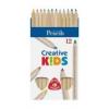 """ICO Színes ceruza készlet, háromszögletű, vastag, natúr, ICO \""""Creative Kids\"""" [12 db]"""