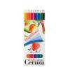 """ICO Színes ceruza készlet, hatszögletű, hajlékony, ICO \""""Süni\"""", 12 különböző szín [12 db]"""