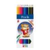 """ICO Színes ceruza készlet, hatszögletű, ICO \""""Creative Kids\"""", 12 különböző szín [12 db]"""
