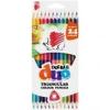 """ICO Színes ceruza készlet, kétvégű, háromszögletű, ICO \""""Süni\"""", 12 különböző szín [12 db]"""
