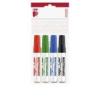 """ICO Tábla- és flipchart marker készlet, 1-3 mm, kúpos, ICO \""""Plan\"""", 4 különböző szín [4 db]"""