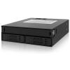 "ICYDOCK MB994IPO-3SB - Rugged Full Metal 2 Bay 2.5"" SAS/SATA HDD & SSD Backplane Cage with Slim ODD Tray for External 5.25"" Bay"