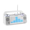 iDance Energy XD2 party hangfalrendszer, keverőpult, bluetooth, USB, AUX, MP3, fehér