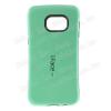 Iface mûanyag védõ tok / hátlap - szilikon betétes - CYAN KÉK - SAMSUNG SM-G928 Galaxy S6. Edge +
