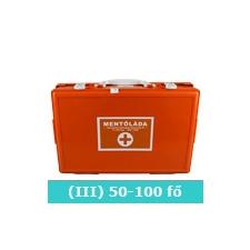 III elsősegély doboz (narancs) fali tartóval férfi edző felszerelés