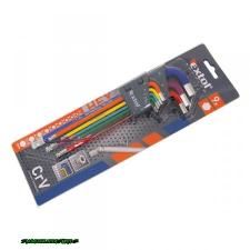 imbuszkulcs klt., 9db, több színű, extra hosszú; gömbfej, 9db 1,5-10mm, CV., 90-230mm imbuszkulcs