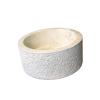 INDERA Mosdókagyló természetes kőből - MIRUM 509 Ø40 cm CREAM
