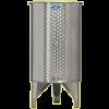 Inox 300 l-es bortartály, úszófedeles, paraffinos, 2 csappal (Zottel) (10479)