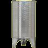 Inox 600 l-es bortartály, úszófedeles, paraffinos, 3 csappal (Zottel) (10493)