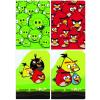 Interdruk Iskolai füzet-vegyes mintákkal-A5 32 lap Angry Birds vonalas <10db/cs