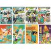 Interdruk Iskolai füzet-vegyes mintákkal-A5 32 lap Phineas&Pherb kockás <10db/ cs