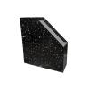 - Irattartó papucs fekete márvány mintás