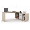 Íróasztal, sonoma tölgyfa/fehér, DALTON NEW