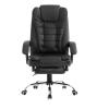 Irodai szék, fekete textilbőr PU, TICHON