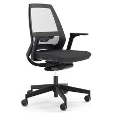 """. Irodai szék,  feszített hálós háttámla, állítható karfával, """"1890 INFINITY"""", fekete forgószék"""