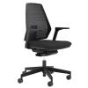 """. Irodai szék,  lyukacsos műanyag háttámla, állítható karfával, """"1890 INFINITY"""", fekete"""