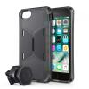 Itskins Mágneses hátlap és autóstartó-Apple iPhone 8-7-6S-6 - 2m DROP - ANTISHOCK - Blac
