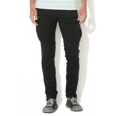 Jack Jones Jack&Jones, Paul Anti-Fit Cargo nadrág, Fekete, W32-L32 (12121351-BLACK-W32-L32)