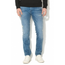Jack Jones Jack&Jones, Tim slim fit szaggatott farmernadrág, Világoskék, W32-L34 (12138771-BLUE-DENIM-W32-L34)